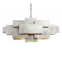 Hanglamp rechthoek speels antiek zilver