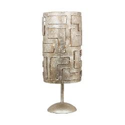 Design tafellamp ambachtelijk zilver