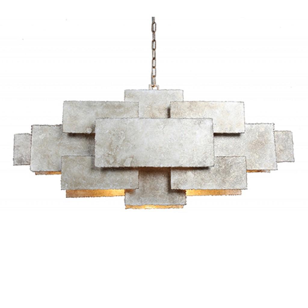 Artistieke eettafelhanglamp in metaal