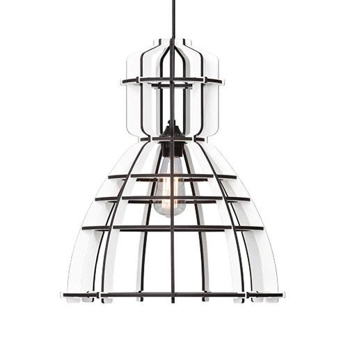 *Industriele hanglamp constructie wit