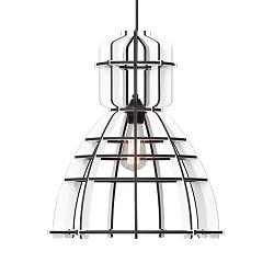 **Industriele hanglamp constructie wit