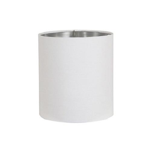 Lampenkap Horn wit cilinder / zilver