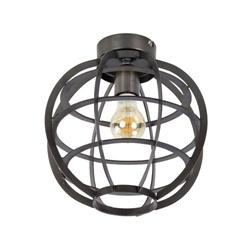 Plafondlamp Suzy donker metaal rond