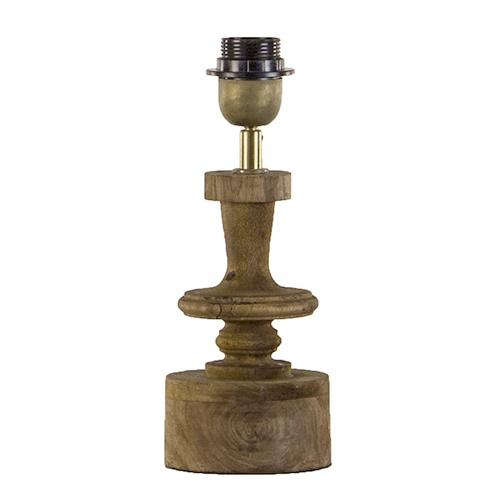 Tafellamp-lampvoet hout met brons