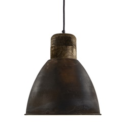 Landelijke hanglamp Ismay roest bruin