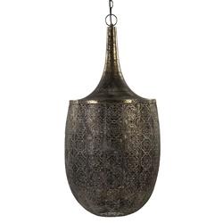 Grote oosterse hanglamp goud/bruin