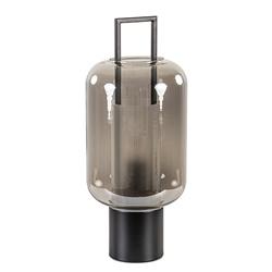 Tafellamp Arturos zwart met smoke glas