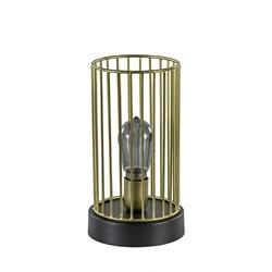Tafellamp Jorim zwart met antiek brons