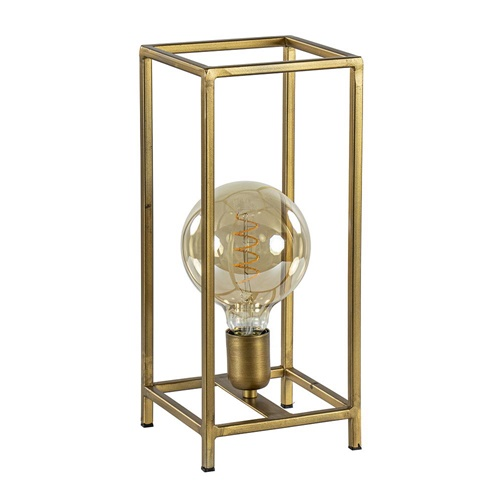 Tafellamp Marley vierkant frame antiek goud