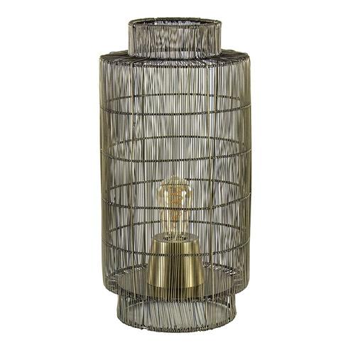 Trendy draad tafellamp Gruaro brons