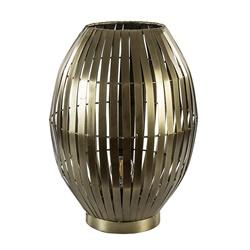 Metalen tafellamp Kyomi antiek brons