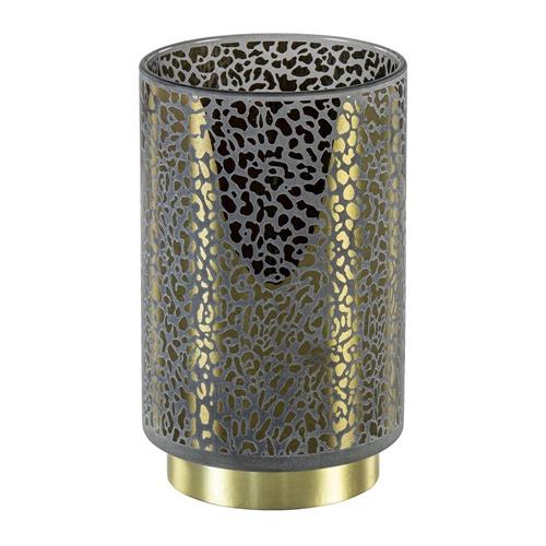 Tafellamp Leopard op batterij donker grijs met goud