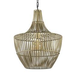 Metalen hanglamp Stella antiek brons met zwart