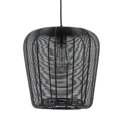 Mat zwarte hanglamp Adeta Light and Living