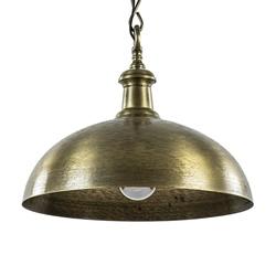 Metalen hanglamp Demi ruw oud brons 50 cm