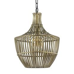 Light and Living hanglamp Stella antiek brons met zwart