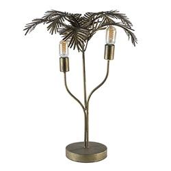 Metalen tafellamp Palm antiek brons Light and Living