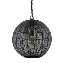 Mat zwarte hanglamp Amarah Light and Living