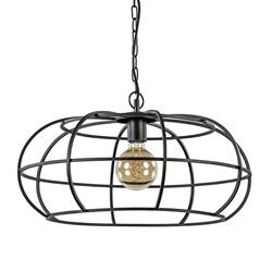 Mat zwart metalen hanglamp Imelda Light and Living