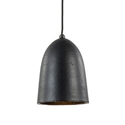 Kleine robuuste hanglamp Sumera zwart/goud L&L