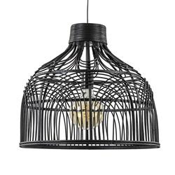 Light & Living hanglamp Pocita zwart rotan