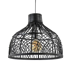 Light and Living hanglamp Pocita zwart