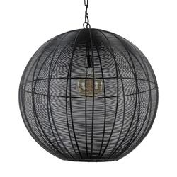 Grote hanglamp bol Amarah mat zwart