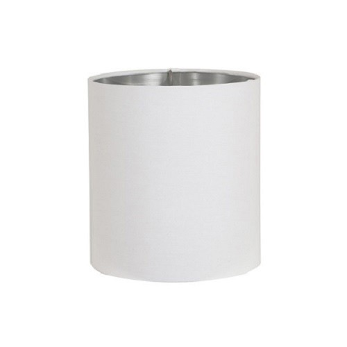 Fabulous Lampenkap Horn wit cilinder / zilver | Straluma YE72