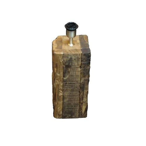Ongebruikt Tafellamp / lampenvoet Rodeo zwerf hout   Straluma DA-03