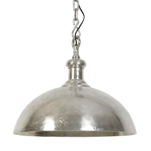 Hanglamp koepel Adora oud zilver keuken
