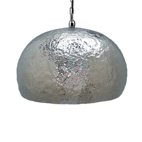 *Zilveren koepel hanglamp Marit 34 cm