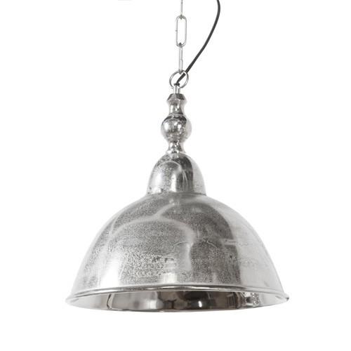 Hanglamp Amelia koepel antiek zilver