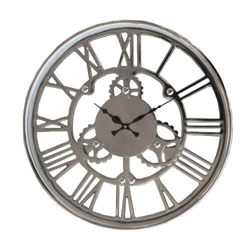 Mooie trendy zilveren klok Sign | Straluma