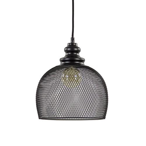 Gaas hanglamp Karleen zwart slaapkamer | Straluma