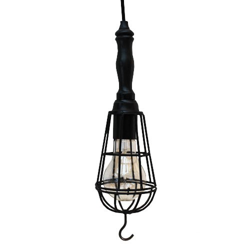 Kooi looplamp Worker zwart (hang)
