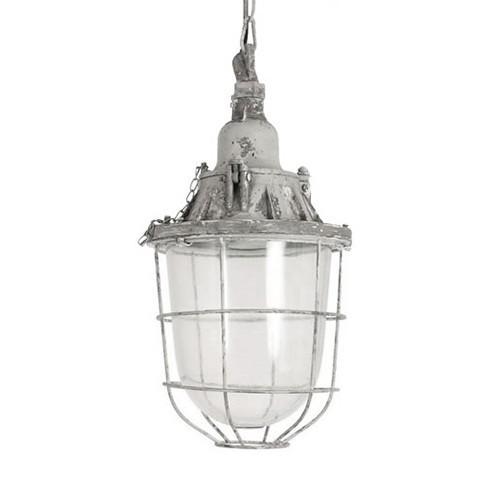 *Industriële kooi hanglamp Quarry grijs