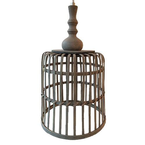 landelijke hanglamp mand slaapkamer straluma