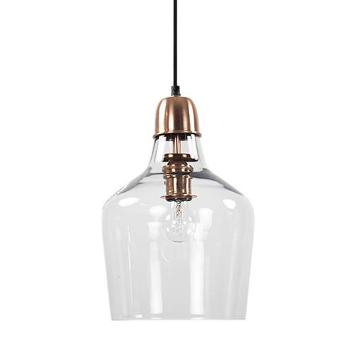 Glazen hanglamp koper Sage hal-keuken