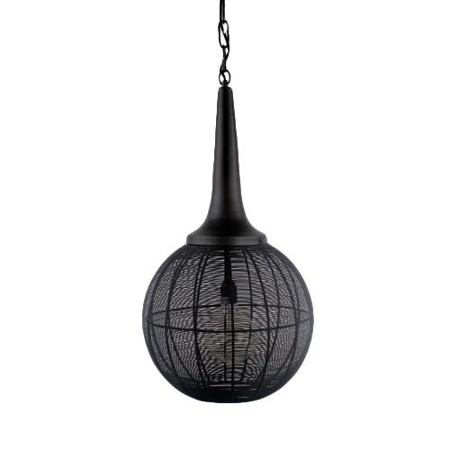 Zwarte draad hanglamp Adrienne bol-kegel