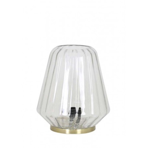 Glazen tafellamp brons Guido dressoir
