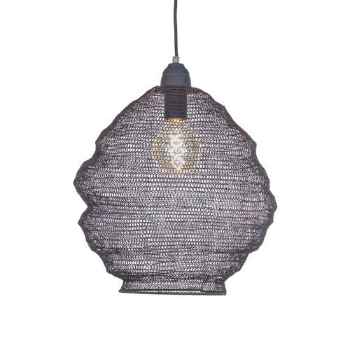 Metalen hanglamp gaas grijs Nina