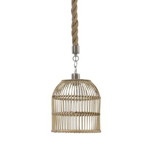 *Landelijke touw hanglamp kooi 26 cm