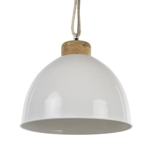 **Witte hanglamp Melissa met touw - hout