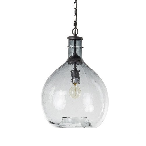 *Smokey glas hanglamp Gabi Light&Living