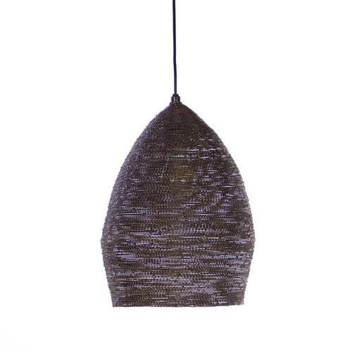 Hanglamp Nayla brons zwart landelijk