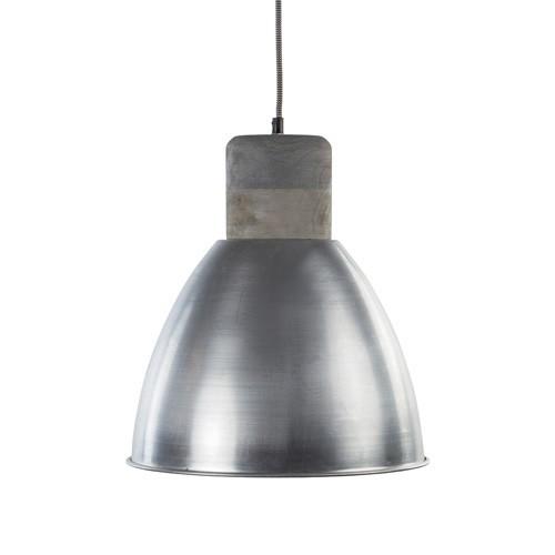 *Hanglamp Ismay staal-houten knop