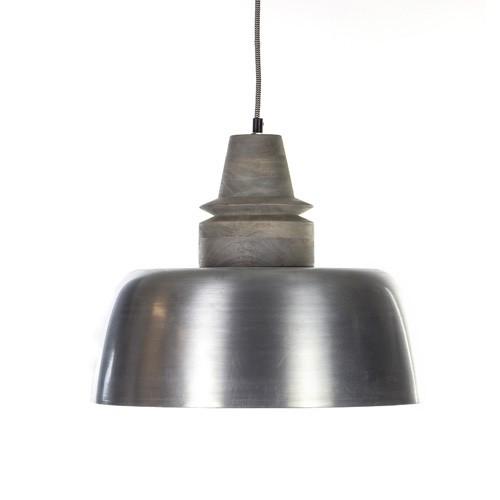 *Hanglamp Margo staal + vergrijsde knop
