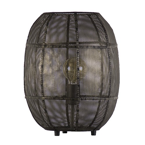 Decoratieve oud metalen tafellamp gaas