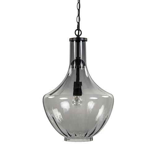 Glazen hanglamp smoke groot