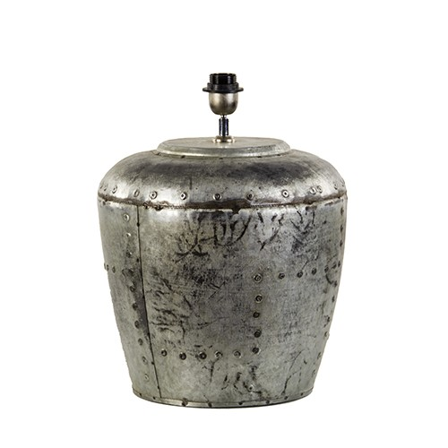 Industriële lampvoet Batu metaal ex kap